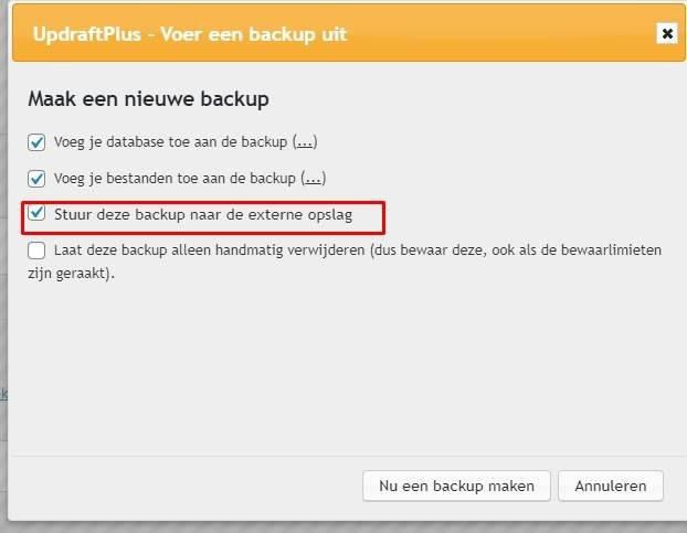 backup externe opslag