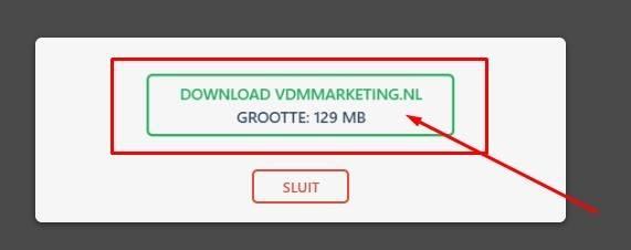 downloaden backup van je site