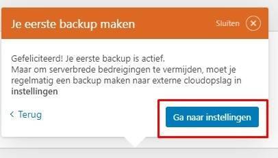 instellingen automatisch backup 1