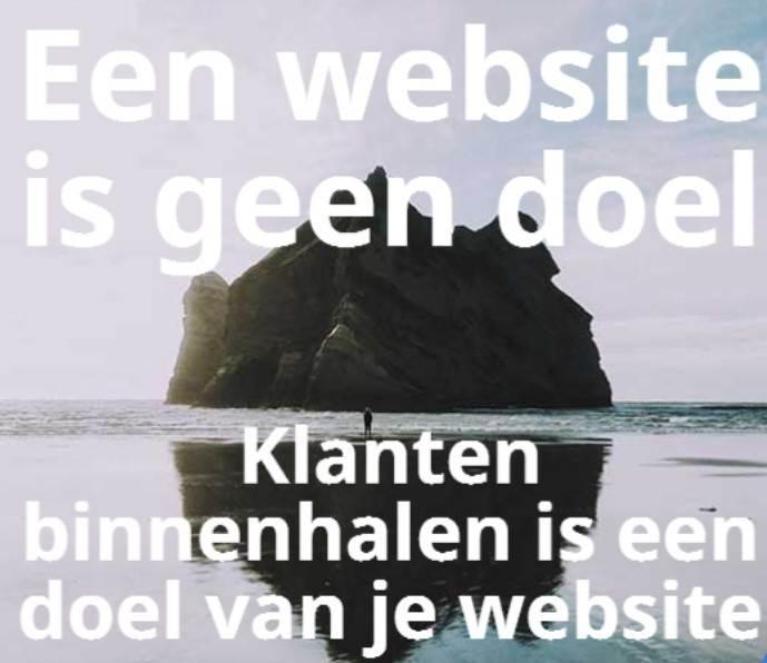 Doel van je website