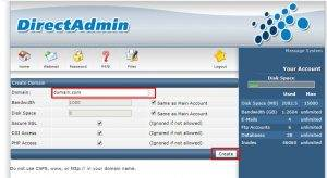 add other domain Direct admin