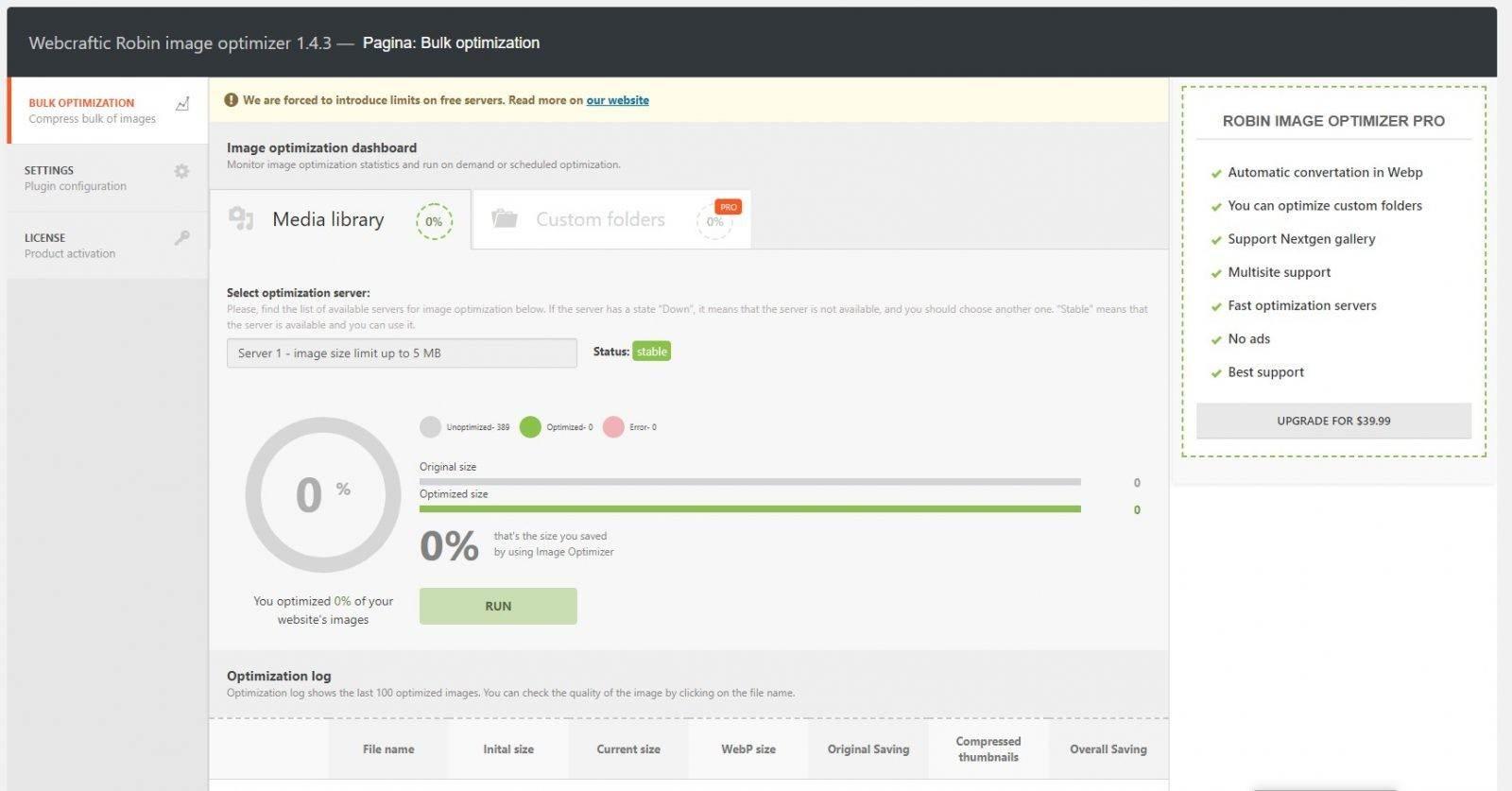 robin image optimizer overview